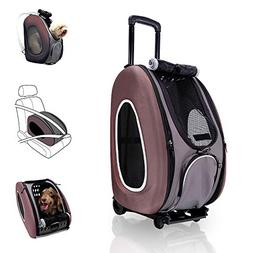 ibiyaya 4 in 1 Pet Carrier + Backpack + CarSeat + Carriers o