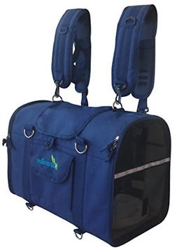 Natuvalle 6-in-1 Pet Carrier Backpack, Extra Small, Blue