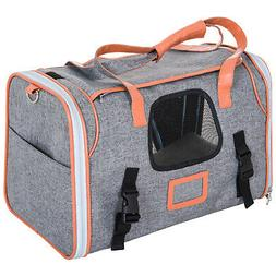 "17"" Travel Carrier for Cats Airline Approved Dog Carrier Nyl"