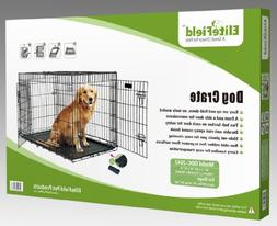 EliteField 2-Door Folding Dog Crate with Rubber FEET, 5 Size