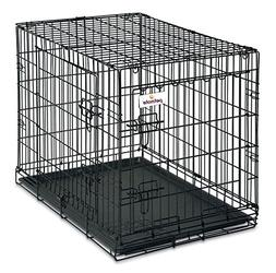 Petmate 2 Door Training Retreat Wire Dog Kennel in Black Int