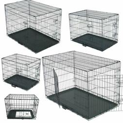 """24"""" 30"""" 36"""" 42"""" 48"""" Pet Dog Cage Crates Puppy Carrier Traini"""