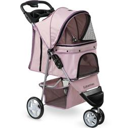 OxGord 3 Wheeler Elite Jogger Pet Stroller Cat/Dog Easy Walk