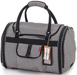 Prefer Pets 599CK Checkered Privacy Carrier