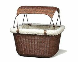 Solvit PetSafe Tagalong Wicker Bicycle Basket, Dog Carrier f