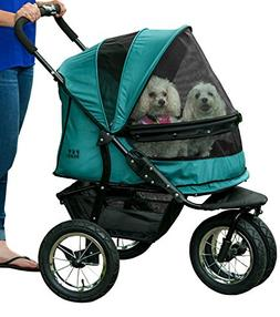 Pet Gear NO-ZIP Double Pet Stroller, Zipperless Entry, for S