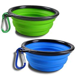 SABUY Collapsible Dog Cat Travel Bowl, Pet Pop-up Food Water