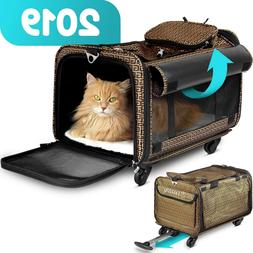 Cozzzy Airline Approved Pet Carrier with Wheels, Soft Sided,
