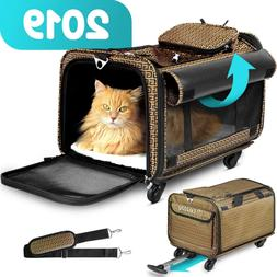 Cozzzy Airline Approved Pet Carrier with Wheels, Soft Sided