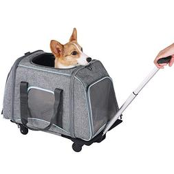 Petsfit Not Airline Approved Pet Rolling Carrier with Remove