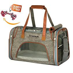 Playay Premium Airline Approved Soft Sided Pet Carrier, Low