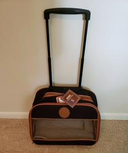 Amelia Tote on Wheels by SHERPA pet carrier for small dogs -