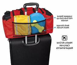 Dog Travel Bag - Ultimate Week Away Duffel For Med And Large