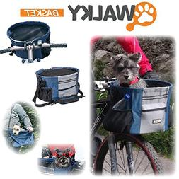 Walky Basket Pet Dog Bike Basket & Carrier Click Release up