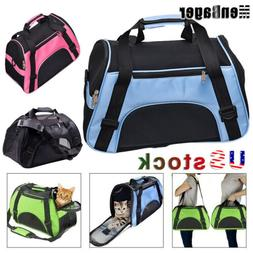 Breathable Cat Dog Pet Carrier Soft Sided Comfort Cage Trave