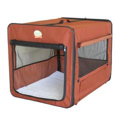 Dog Crate For Dogs Brown Medium Size Kennel Shelter Soft Sid