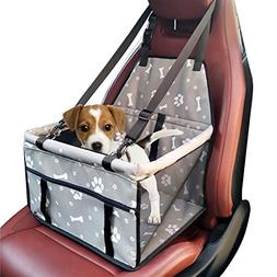 WATTA Car Booster Seat for Dog Cat, Portable Foldable Pet Ca