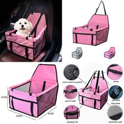 Car Seats For SMALL Dogs Pet Booster Folding Carrier W Clip
