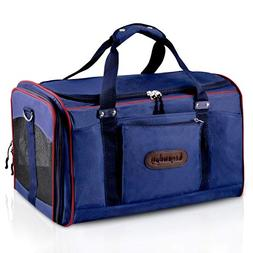 Soft Sided Pet Carrier, Legendog Large Durable Canvas Airlin