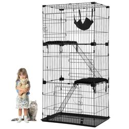 Cat Cage Cat Crate Kennel Cat Playpen with Free hammock Perc