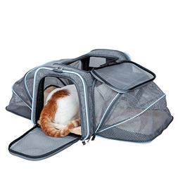 Petsfit Cat Carrier Expandable Dog Carrier for Medium Dogs,