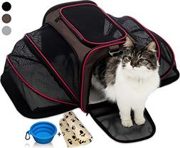 Petyella Cat Carrier Pet Carrier for Small Dogs and Cats Exp