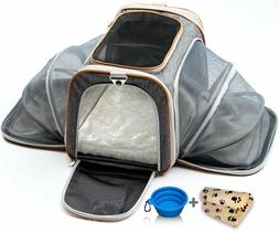 Cat Dog Carrier Medium Airline Approved w/ Soft Expandable K