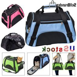 Cat Dog Pet Carrier Breathable Soft Sided Comfort Cage Trave
