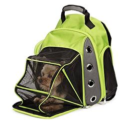 Casual Canine Cc Ultimate Backpack Carrier Grn 16.93In. X 13