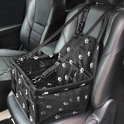 HIPPIH Collapsible Pet Booster Car Seat - 2 Support Bars, Po