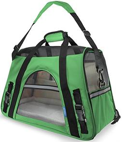 OxGord Small Comfort Carrier Soft-Sided Pet Carrier , Green