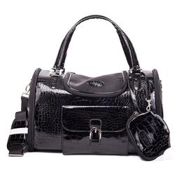 Parisian Pet Croc Dog Carrier Black Small and Medium Approve
