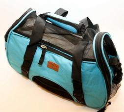 cute blue pet carrier for outdoor traveling