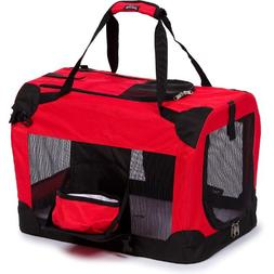 Deluxe 360 Vista View Pet Carrier in Red - Size: X-Large