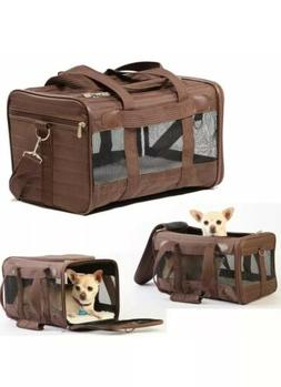 deluxe carrier pet dog cat travel bag
