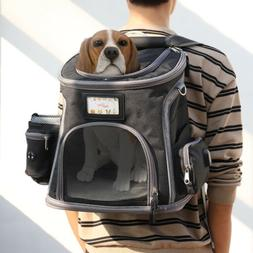 Deluxe Dog Carrier Backpack Dogs Cats Ventilated Design Brea