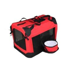 Deluxe 360° Vista View Pet Carrier in Red Size: X-Small