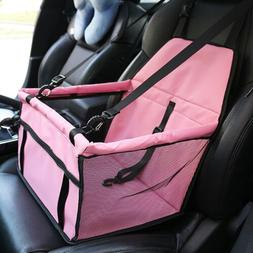 Dog Booster Car Seat Carrier Portable Carrier w/ Safety Belt