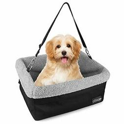 Petlo Dog Booster Car Seat with Soft Luxurious Fleece - Wate