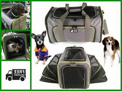 Dog Carrier Cat Travel Bag Airline Approved Side Expandable