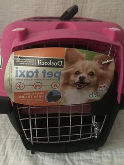 dog  carrier , dog cage,dog taxi pink  fo 10 pounds. small c