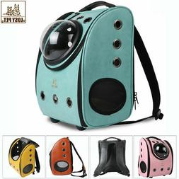 dog cat leather backpack pet carrier astronaut
