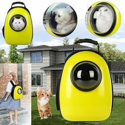 Dog Cat Leather Backpack Pet Carrier Astronaut Capsule Breat