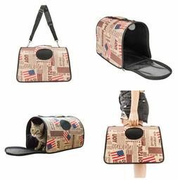 Dog Cat Pet Portable Travel Carry Carrier Tote Cage Bag Crat