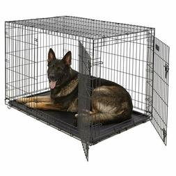 MidWest Homes for Pets Dog Crate |iCrate Single Double Door