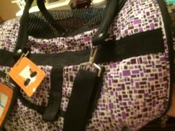 Dog Pet Carrier in cabin Flight. New w Tags, purple, Shoulde