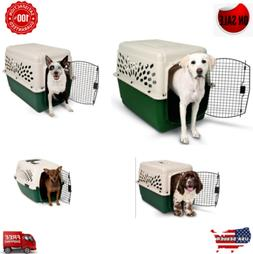 Dog Kennel Cage Carrier Portable Transport Outdoor Travel Sm