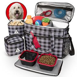 Premium Dog Travel Set - Includes Large Tote Bag, Secret Spa