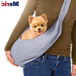 MERIC Small Dog Sling Bag - Reversible Pets Carrier Up to 13