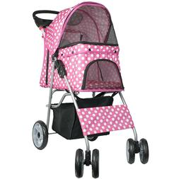 Dog Strollers For Small Dogs Pet Cats Jogging Pink Carrier T